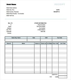 receipts online free template