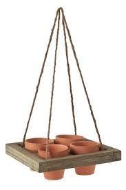 resultado de imagen para maceteros de madera para colgar