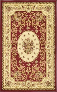 Versailles Red Area Rug
