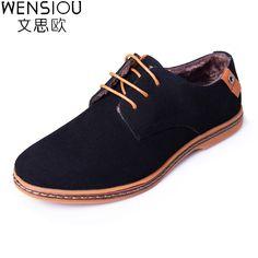 08791406d Winter Men Casual Shoes With Fur Male Comfortable Oxford Shoes Men Footwear  Solid Color Lace-