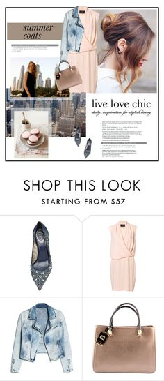 """How to Style It: Summer Coats"" by celida-loves-pink ❤ liked on Polyvore featuring René Caovilla, By Malene Birger, MANGO, contest, mango, Jeanjacket, Howtostyle and summercoat"