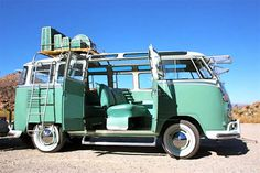 Volkswagen Bus Interior | vw bus for auction 1963 volkswagen t1 23 window samba green and white