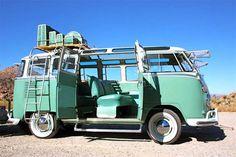 Volkswagen Bus Interior | vw bus for auction 1963 volkswagen t1 23 window samba green and white