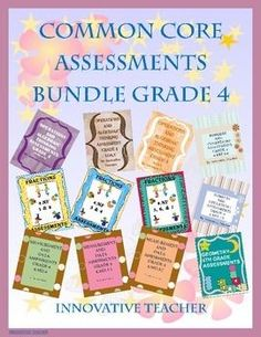 Common Core Assessments Bundle Grade 4 by Innovative Teacher. Included are 12 Assessments that are aligned to ALL of the Common Core Math Standards for 4th Grade.