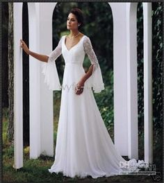 I'll never need a wedding dress, but would have loved this at my second wedding. Very elvish.