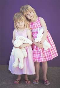 Easter dresses and bunnies