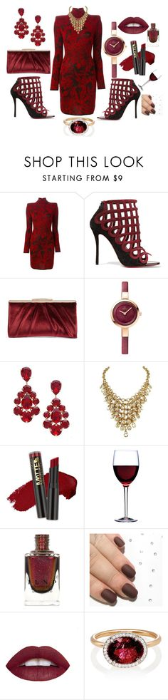 """Fine Wine"" by unusualengagementringsreview ❤ liked on Polyvore featuring Balmain, Christian Louboutin, Glint, L. Erickson, L.A. Girl, Luigi Bormioli and Irene Neuwirth"