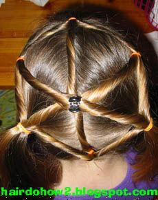 spiderweb - halloween doo!  @Rachel Krupa Let's do this to the girls hair at school!!!