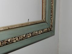 Love the frame, it's duck egg and old white with clear and dark wax