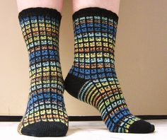 Ugly Duckling socks by Karin Aida - for rescuing ugly sock yarn Knitting Socks, Hand Knitting, Knit Socks, Knitting Videos, Knitting Projects, Ugly Socks, Fair Isle Knitting Patterns, Ugly Duckling, Patterned Socks