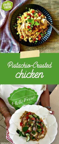 Delicious Pistachio-Crusted Chicken from HelloFresh! So delicious and easy to make. TablerPartyOfTwo.com #ad #HelloFreshPics