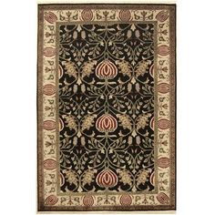 """American Home Rug Co. Arts and Crafts Hand-Tufted Area Rug Rug Size: 3'6""""x5'6"""""""