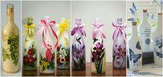 Decora y recicla tus botellas de vidrio con servilletas de decoupage