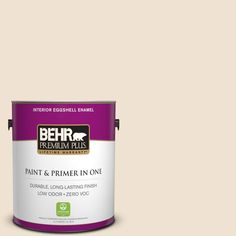 BEHR Premium Plus 1-gal. #S280-1 Buckwheat Flour Eggshell Enamel Interior Paint
