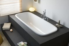 I prefer with a bathtub with rectangular edges but otherwise the idea is there. A walk is not bad too Source by sophieveran Bathroom Spa, Wood Bathroom, Diy Bathroom Decor, Budget Bathroom, White Bathroom, Bathroom Interior, Master Bathroom, Bad Inspiration, Bathroom Inspiration