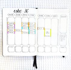 Weekly Spread Ideas for Your Bullet Journal