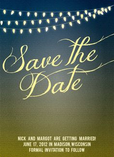 String of Lights Summer Inspired Save the Date