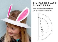 Maiko Nagao: DIY Paper plate Easter bunny ears in 2 minutes! By Alpha Mom