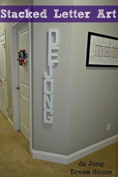 de Jong Dream House: Stacked Letters