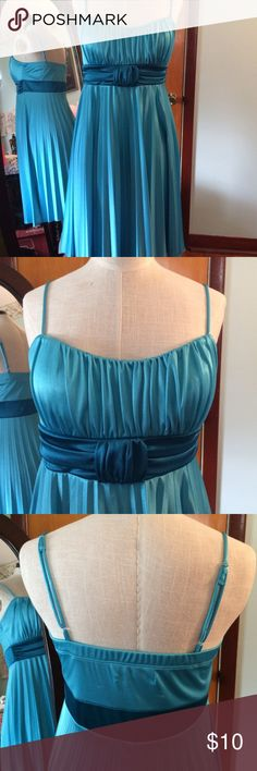 Charlotte Russe Blue Dress Pretty Charlotte Russe electric blue/turquoise dress. Worn a handful of time. Some minor pulls in the fabric from normal wear. Charlotte Russe Dresses
