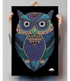 Poster Mulga Michael de magische uil