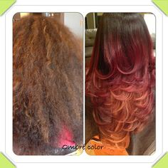 Fiery #CHIColor ombre by Chocolate City Hair Studio