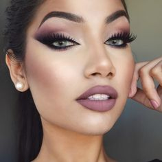 """ALINA on Instagram: """"@gerardcosmetics """"Invasion"""" liquid lipstick with MAC """"Whirl"""" lip liner All shadows from the @tartecosmetics Energy Noir palette (I also used the blush as one of the eyeshadows) @tartecosmetics tarteist clay paint eyeliner in """"black"""" @backstage_hq lashes in """"Vegas"""" @narsissist """"Dolce vita"""" blush @beccacosmetics shimmering skin perfecter in """"Opal"""" @anastasiabeverlyhills dip brow pomade in """"Chocolate"""" Brushes used @morphebrushes flawless collection #anastasiabeverlyhills"""