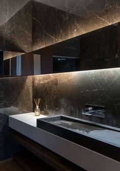 badgestaltung ideen schone bader badezimmer in schwarz mit marmor White Bathroom Paint, Bathroom Vanity Decor, Modern Bathroom Decor, Bathroom Styling, Bathroom Furniture, Bathroom Small, Bathroom Ideas, Ikea Bathroom, Bathroom Plants