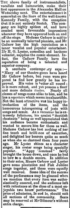 Cadzow family - Taranaki Herald, Volume XLV, Issue 10653, 6 June 1896, Page 2
