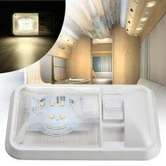 12V Cargo Camper RV Interior LED Light Trailer Boat Lamp Ceiling For Car Van US #MATCC #2835SMDLED