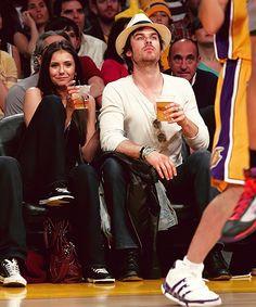 Nina Dobrev & Ian Somerhalder.
