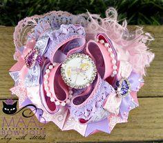 hair bows, bow, bows, accessories, pastel carousel, carousel, horse, MAAD Bowtique