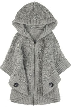 Stella McCartney zip front boucle poncho - OMG comfort and style, baby! Winter Wear, Autumn Winter Fashion, Stella Mccartney, Knitted Cape, Vogue Knitting, Sweater Weather, Passion For Fashion, What To Wear, Style Me