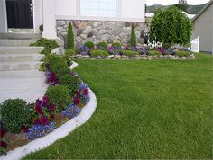 Small yard Landscape and edging idea.