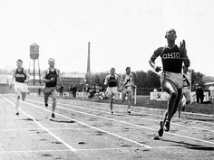 Jesse Owens sets 3 world records and ties a fourth in 45 minutes at Ferry Field at the University of Michigan.  Called the greatest individual accomplishment in one day in any sport