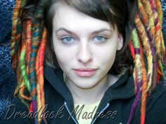 #dreads #dreadlocks #wool #roving #fairy #boho #hippie #tribal #goth #rave