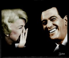 Doris Day and Rock Hudson. Obsessed!! I want this picture