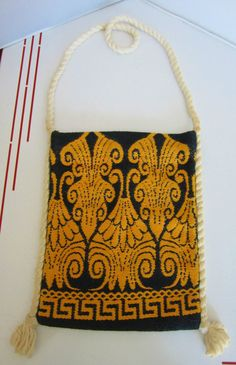 "PosVintage 1970s Hippie Purse also Shepherds Bag for carrying snacks -Greece- called ""tagari"" in Greek"