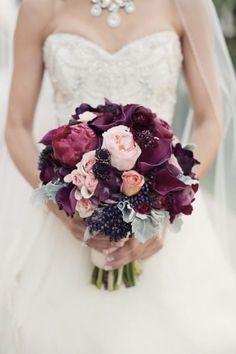 Marsala Bridal Bouquet
