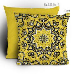 "Lisa Argyropoulos Retroscopic In Lemon Throw Pillow $39.00 16"" x 16"""