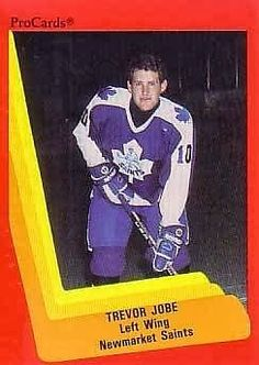 trevor jobe newmarket saints hockey card