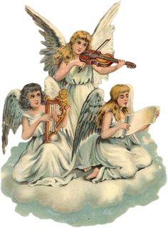 Trio Angels   589px × 800px    Glanzbilder - Victorian Die Cut - Victorian Scrap - Tube Victorienne - Glansbilleder - Plaatjes : Engel - Angel - Ange - Glanzbild - Victorian Cie Cut - tube victorienne - victorian clipart