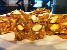 PUMPKIN CARROT ALMOND BARS - no bake! (using Arbonne Protein and Arbonne Fiber)