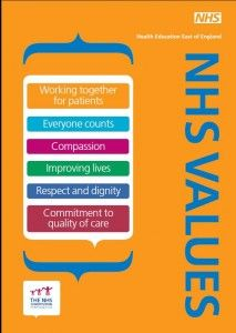 350 careers in the NHS but only one set of NHS values. Uniting staff at all levels