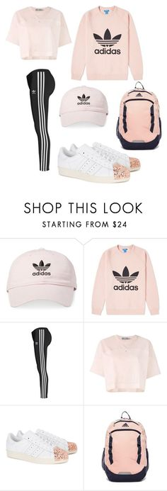 """Adidas"" by kaylakmichell-kat ❤ liked on Polyvore featuring adidas and adidas Originals #fitness_fashion_adidas"