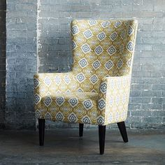 Victor Armchair - Prints #westelm - for the dining room table?