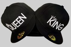 b17e8188 TWO SnapBacks for the price OF ONE! King & Queen summer caps, hats Queen