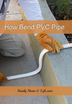 Learn how to bend PVC pipe the easy way.                                                                                                                                                     More