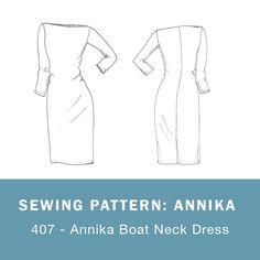 407 - Annika Boat Neck Dress - MariaDenmark Sewing