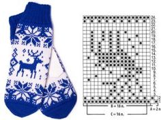 Knitted Mittens Pattern, Knitting Paterns, Crochet Gloves, Knit Mittens, Knitting Charts, Knitting Socks, Knitting Stitches, Mitten Gloves, Baby Knitting